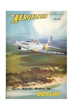 The Aeroplane' magazine cover - Boulton Paul Balliol Aircraft, 1951 by Laurence Fish