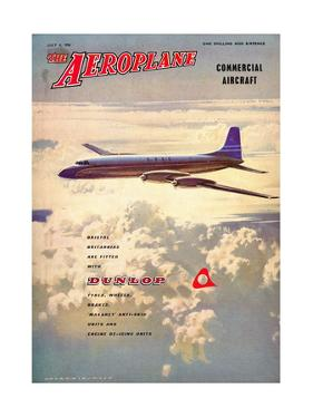 The Aeroplane' magazine cover - Bristol Britannia, 1958 by Laurence Fish