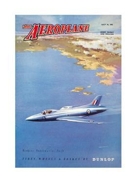 The Aeroplane' magazine cover - Vickers Supermarine Swift, 1953 by Laurence Fish