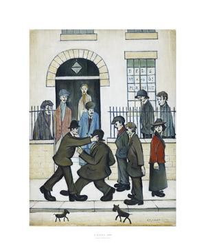 A Fight, c1935 by Laurence Stephen Lowry