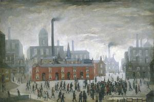 An Accident by Laurence Stephen Lowry