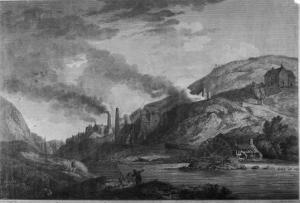 Ironworks at Coalbrookdale Shropshire by Laurence Stephen Lowry