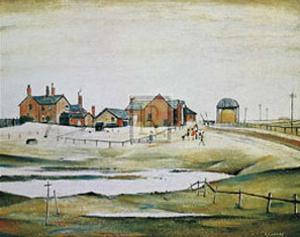 Landscape with Farm Buildings by Laurence Stephen Lowry