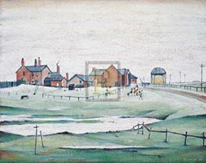 Landscapes with Farm Buildings, 1945 by Laurence Stephen Lowry
