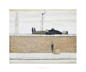 Man Lying On A Wall, 1957 by Laurence Stephen Lowry