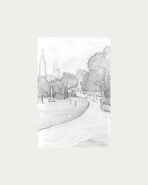 Peel Park Sketch, 1919 by Laurence Stephen Lowry