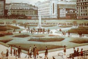 Piccadilly Gardens by Laurence Stephen Lowry
