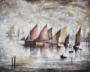 Sailing Boats by Laurence Stephen Lowry