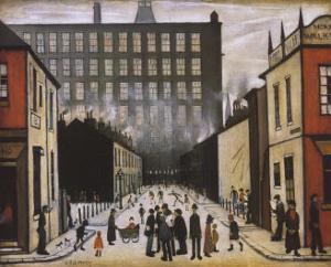 Street Scene, Pendlebury by Laurence Stephen Lowry