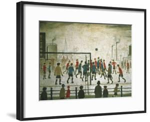 The Football Match by Laurence Stephen Lowry