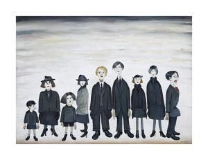The Funeral Party, 1953 by Laurence Stephen Lowry