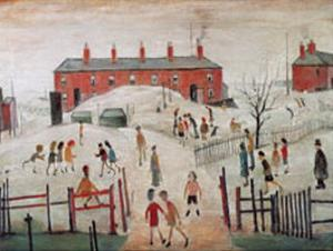The Schoolyard by Laurence Stephen Lowry