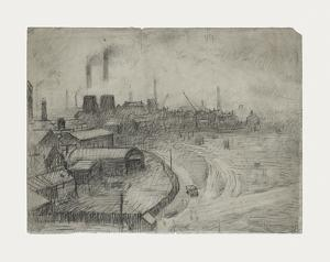 View From The Window Of The Royal Technical College, 1952 by Laurence Stephen Lowry