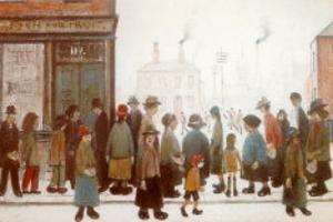 Waiting for the Shops to Open by Laurence Stephen Lowry
