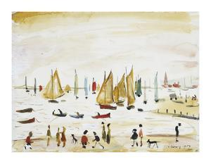 Yachts, 1959 by Laurence Stephen Lowry