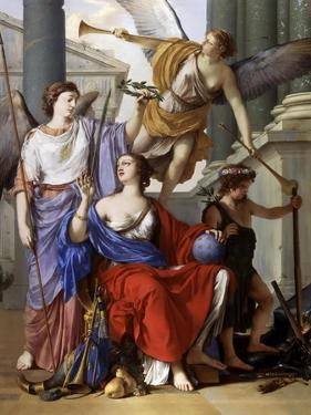 Allegory of the Regency of Anne of Austria by Laurent de La Hyre