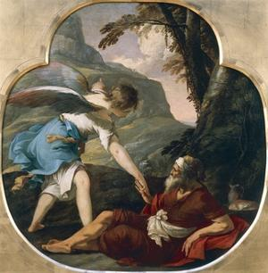 Elijah Fed by an Angel by Laurent de La Hyre