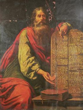 Moses and the Tablets of the Law by Laurent de La Hyre