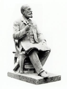 SAINT-SAENSCamille- statue with score by Laurent-Honore Marqueste