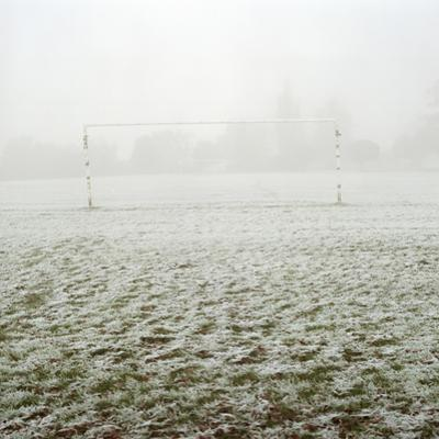 Soccer Goal in Frosty Field