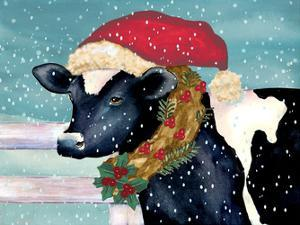 Christmas Cow by Laurie Korsgaden
