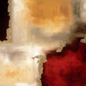 Crimson Accent I by Laurie Maitland
