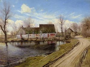 Farmhouses in Baldersbronde by Laurits Andersen Ring