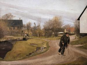 Jutland Village in Spring, 1892 by Laurits Andersen Ring