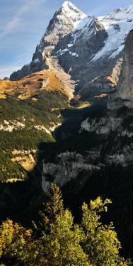Lauterbrunnen Valley with Mt Eiger in the Background, Murren, Bernese Oberland, Bern, Switzerland
