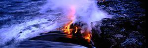 Lava Flowing from a Volcano, Kilauea, Hawaii Volcanoes National Park, Big Island, Hawaii, USA