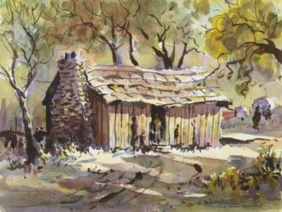 Mark Twain's Cabin by LaVere Hutchings