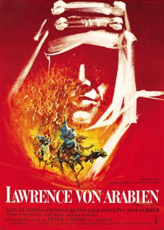 Lawrence of Arabia, (aka Lawrence Von Arabien), German Poster Art, 1962