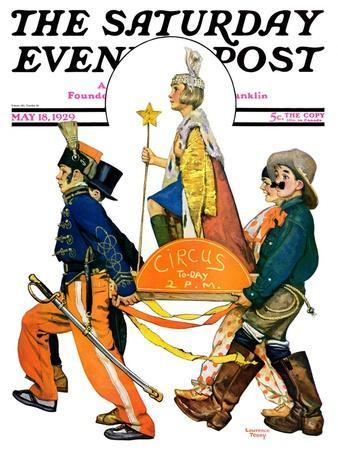 """""""Children's Circus Parade,"""" Saturday Evening Post Cover, May 18, 1929"""