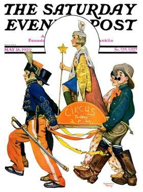 """""""Children's Circus Parade,"""" Saturday Evening Post Cover, May 18, 1929 by Lawrence Toney"""