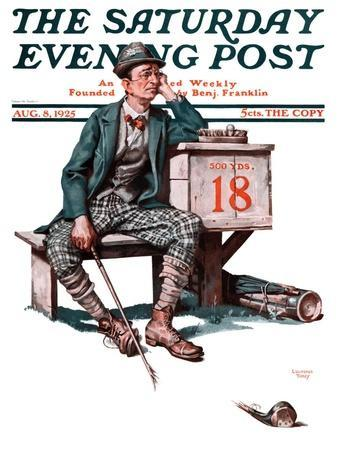 """""""Eighteenth Hole,"""" Saturday Evening Post Cover, August 8, 1925"""