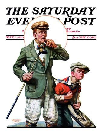 """""""Hole in One,"""" Saturday Evening Post Cover, September 11, 1926"""
