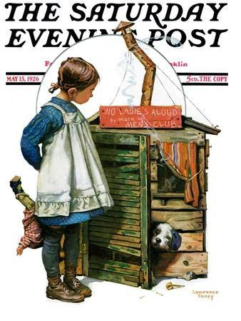 """""""No Girls Allowed,"""" Saturday Evening Post Cover, May 15, 1926"""