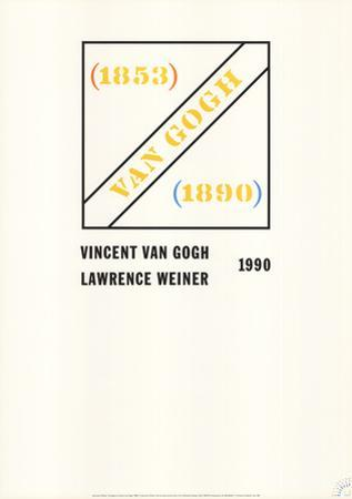 Homage to Vincent Van Gogh by Lawrence Weiner