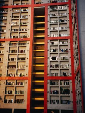 Apartment Buildings, Wanchai, Hong Kong, China by Lawrence Worcester