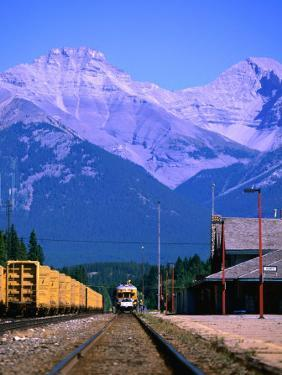 Banff Train Station, Banff National Park, Alberta, Canada by Lawrence Worcester