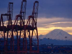 Elliot Bay Industrial Waterfront, Seattle, Washington, USA by Lawrence Worcester