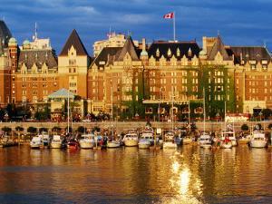 Empress Hotel with Harbour in Foreground, Victoria, Canada by Lawrence Worcester