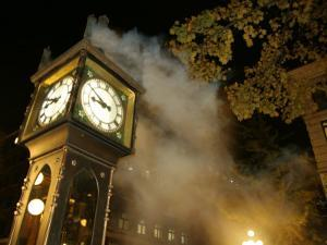 Gastown's Famous Steam-Powered Clock, Vancouver, Canada by Lawrence Worcester