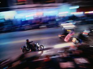 Motorbikes Take to Main Street During Bike Week, Daytona Beach, Florida, USA by Lawrence Worcester