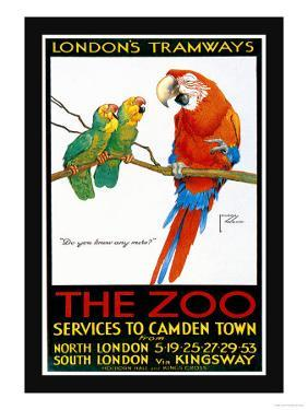 London's Tramways, The Zoo by Lawson Wood
