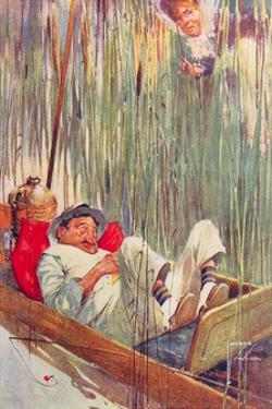 Moses in the Bullrushes by Lawson Wood