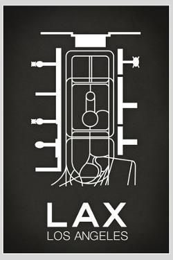 LAX Los Angeles Airport Plastic Sign