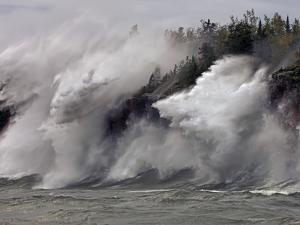Fierce Lake Superior waves pound Minnesota's north shore by Layne Kennedy