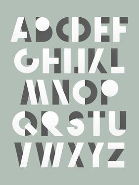 Retro Font in White and Grey. White Alphabet. Realistic Letters by layritten