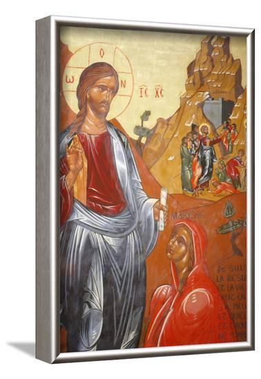 Lazarus's resurrection painted by Jean- Marie Vien in 1747, Sainte Marthe de Tarascon Abbey-Godong-Framed Photographic Print